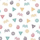 Geometrycznego abstrakcjonistycznego tło koloru bezszwowy wzór Fotografia Stock