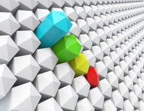 Geometrycznego abstrakta barwiony retro projekt Obrazy Stock