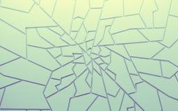 Geometrycznego koloru wieloboków abstrakcjonistyczna tapeta jako pęknięcie ściana, Zdjęcia Royalty Free