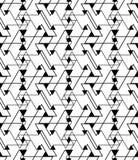 Geometrycznego kontrasta labiryntu abstrakcjonistyczny bezszwowy wzór Zdjęcie Stock
