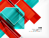 Geometrycznego kształta abstrakcjonistyczny biznesowy szablon ilustracja wektor