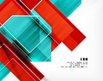 Geometrycznego kształta abstrakcjonistyczny biznesowy szablon Fotografia Stock