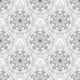 Geometrycznego kwiatu bezszwowy deseniowy czarny biel Zdjęcie Stock