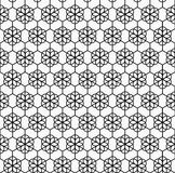 Geometrycznego kwiatu bezszwowy wzór Zdjęcia Stock