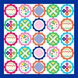 Geometrycznego patchworku bezszwowy wzór, Obrazy Royalty Free