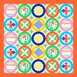 Geometrycznego patchworku bezszwowy wzór, Obraz Royalty Free