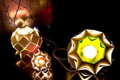 Geometrycznego projekta lamp instalacje Fotografia Stock