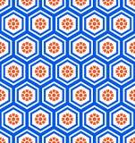 Geometrycznego sześciokąta bezszwowy wzór Zdjęcia Royalty Free