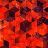 Geometrycznego sztuka wzoru kolorowa graficzna tekstura obraz stock