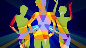 3 geometrycznego tancerza royalty ilustracja