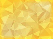 Geometrycznego wieloboka abstrakcjonistyczny tło kolor żółty Fotografia Stock