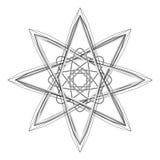Geometrycznej deseniowej ikony gwiazdy astrologii ustalony pentagram Zdjęcia Stock