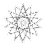 Geometrycznej deseniowej ikony gwiazdy astrologii ustalony pentagram Obraz Stock