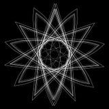 Geometrycznej deseniowej ikony gwiazdy astrologii ustalony pentagram Zdjęcie Royalty Free