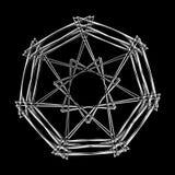 Geometrycznej deseniowej ikony gwiazdy astrologii ustalony pentagram Obraz Royalty Free