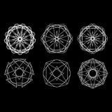 Geometrycznej deseniowej ikony gwiazdy astrologii ustalony pentagram Zdjęcia Royalty Free