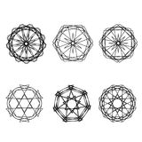 Geometrycznej deseniowej ikony gwiazdy astrologii ustalony pentagram Obrazy Royalty Free