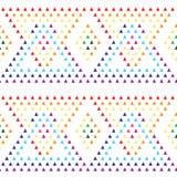 Geometrycznej ornament mozaiki wektoru bezszwowy wzór Obraz Stock