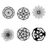 Geometrycznej wzór gwiazdy pentagrama astrologii ustalona symetria Zdjęcie Stock