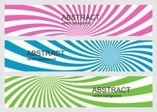 Geometryczni abstrakcjonistyczni tła Obrazy Royalty Free