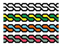 Geometryczni bezszwowi warkocze ilustracji