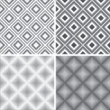 Geometryczni bezszwowi wzory Obrazy Royalty Free