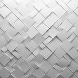 Geometryczni biali abstrakcjonistyczni wieloboki jako płytki ściana, Zdjęcie Royalty Free