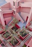 Geometryczni budynków schodki Czerwona ściana, los angeles Manzanera Calpe obrazy royalty free