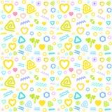 Geometryczni deseniowi prości, pastelowi kolory dla dzieciaka ` tkaniny, Fotografia Stock