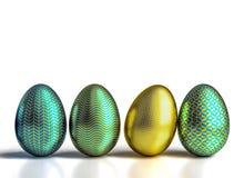 Geometryczni Easter jajka Fotografia Stock