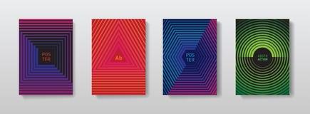 Geometryczni halftone gradienty dla pokrywa projekta Minimalistic pos royalty ilustracja