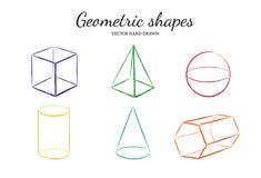 Geometryczni kształty ustawiają 2 Zdjęcia Royalty Free