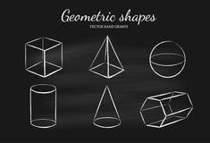 Geometryczni kształty ustawiają 1 Zdjęcia Stock