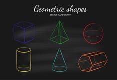 Geometryczni kształty ustawiający Fotografia Royalty Free