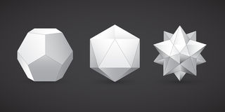 Geometryczni kształty, dodekaedr, wektor Zdjęcia Royalty Free