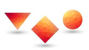 Geometryczni kształty, trójgraniasty projekt Obrazy Royalty Free