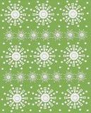 Geometryczni kwiaty na Zielonym piaskowu Zdjęcie Royalty Free