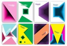Geometryczni Minimalni gradienty ustawiający projekt Obrazy Royalty Free