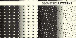 Geometryczni monochromów wzory Fotografia Stock