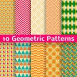 Geometryczni wzory (taflować). Set wektor Obrazy Royalty Free