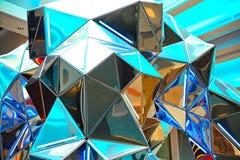 Geometryczni wzory w szkle i świetle fotografia royalty free
