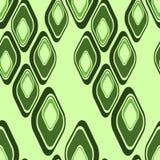 geometryczni zieleni wzory ilustracja wektor