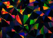 Geometryczny abstrakcjonistycznej sztuki wzór ciemny i jaskrawy - Obraz Royalty Free