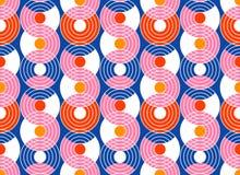 Geometryczny abstrakcjonistyczny bezszwowy deseniowy tło Kolorowi kształty ilustracja wektor