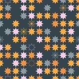 Geometryczny abstrakcjonistyczny bezszwowy wzór reprezentuje płatki śniegu Fotografia Stock
