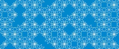 Geometryczny abstrakcjonistyczny bezszwowy wzór reprezentuje płatki śniegu Zdjęcie Stock