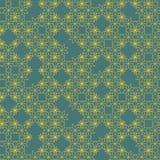 Geometryczny abstrakcjonistyczny bezszwowy wzór reprezentuje płatki śniegu Obrazy Stock
