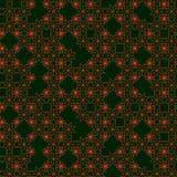 Geometryczny abstrakcjonistyczny bezszwowy wzór reprezentuje płatki śniegu Zdjęcie Royalty Free