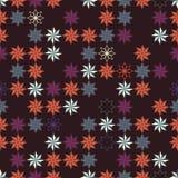 Geometryczny abstrakcjonistyczny bezszwowy wzór reprezentuje płatki śniegu Fotografia Royalty Free