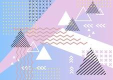Geometryczny abstrakcjonistyczny elementu Memphis tło Fotografia Stock